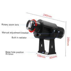 kích thước ngoại quan của đèn 35w chống nước