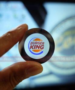 In ấn hoàn thành logo Burger King