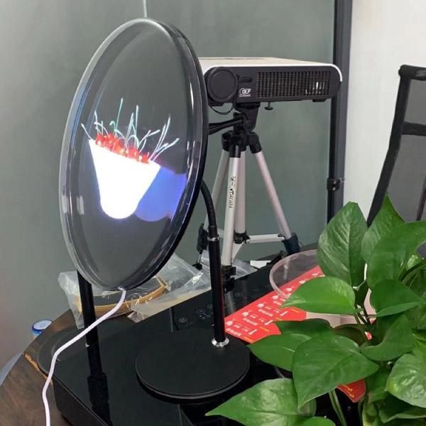 Quạt đèn led 3d để bàn nền đen